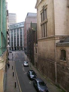 A photograph of Shoe Lane, London