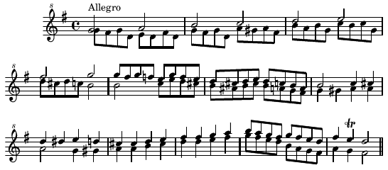 A short, simple piece for Double Flageolet.