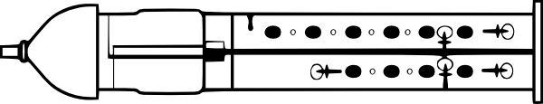 Diagram of a Double Flageolet